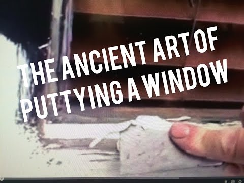 How to Putty Glass Window with Glazing Tool. Dap 33 Easy Simple