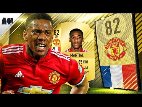 FIFA 18 MARTIAL REVIEW   82 MARTIAL PLAYER REVIEW   FIFA 18 ULTIMATE TEAM