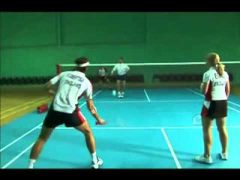 Badminton Techniques   Forehand Doubles Long Defense video