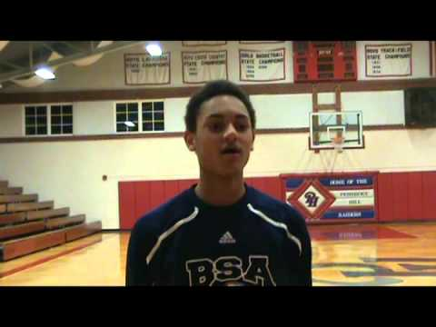 Post Game Interview with Bishop Seabury Academy Mikey Wycoff