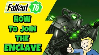 Fallout 76 Enclave ( How to Join the Enclave in Fallout 76 EASY WAY )