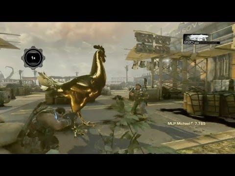 Gears of War 3 - Lambent Chicken Easter Egg | Rooster Teeth