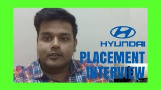 Hyundai India placement interview | Question and Answers