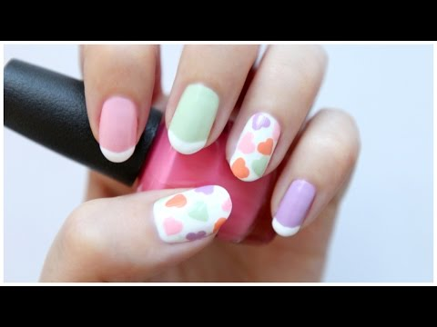 Cute Valentines Day Nail Art! | JennyClaireFox - YouTube