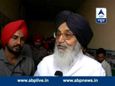 Punjab CM Prakash Singh Badal casts vote, confident of strong win