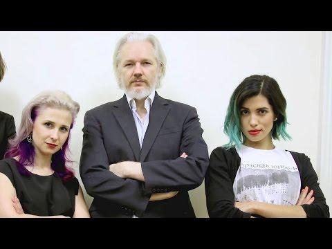 When Pussy Riot Met Julian Assange In London video