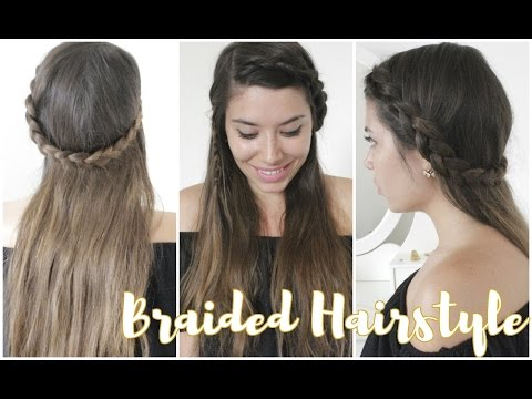 Cute & Easy Braided Summer Hairstyle - Acconciatura FACILE con TRECCE per l'estate!