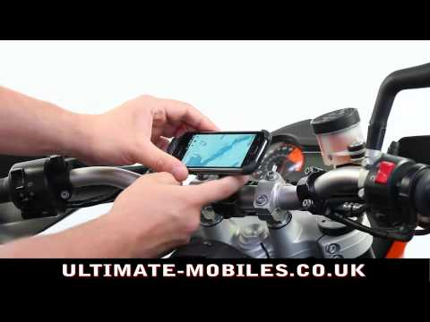 Samsung Galaxy S Motorcycle Handlebar Mount with Dedicated Holder