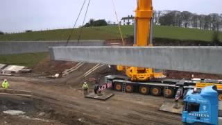 FP McCann-BAM Construction Bridge Beam Installation at A31 Magherafelt Bypass