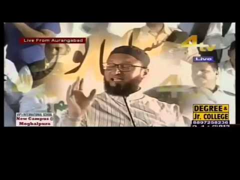 Asaduddin Owaisi Sahab Addressing Reservation For Muslims In Aurangabad, Maharashtra - Full Speech