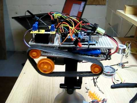 Driving the robot with tank drive and joysticks