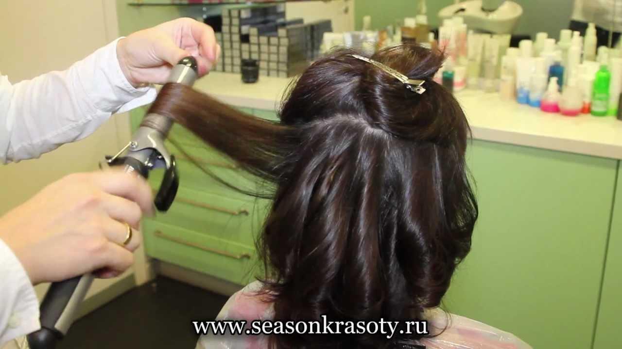 Прически феном для средних волос