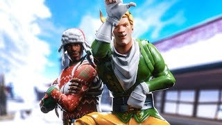 i can ONLY kill CHRISTMAS skins in fortnite... (very sad)