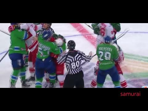 Стычки и драки хоккеистов Салавата Юлаева!(Гончаров, Григоренко, Хлыстов)