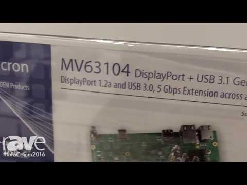 InfoComm 2016: Icron Explains MV63104 DisplayPort + USB 3.1 Extender