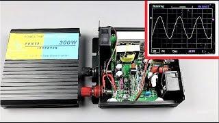 Inside of a Pure Sine-Wave Inverter + Output Waveform Test