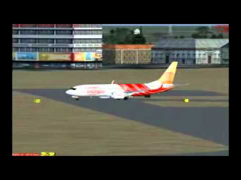 Air India Express Landing and Taxing, with local Traffic by arun