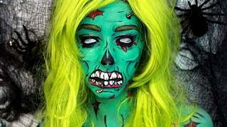 Halloween Makeup: Pop Art Zombie Makeup Tutorial