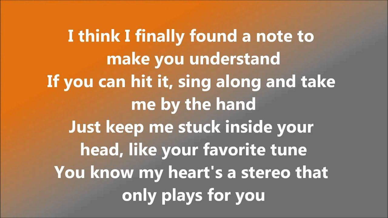 in stereo lyrics: