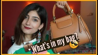 WHATS IN MY BAG? | Anushae Says