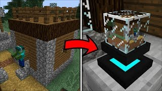 Minecraft WE MINIMIZE MARK OUR FRIENDLY ZOMBIE !! WE DESTROY HIS VILLAGE !! Minecraft