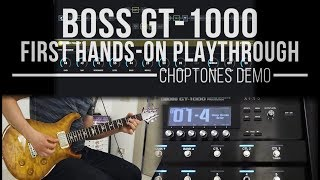 Boss GT-1000 | Hands On Playthrough (Rock, Metal, Clean Tones / Sound Tweaking / Controls)