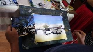Light and shadow watercolor painting demonstration by Sukit Sukrakan