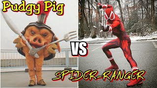 Pudgy Pig vs The Spider-Ranger 🐷🕷 (Ft.TstunningSpidey)