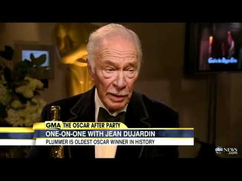 Oscars 2012: Christopher Plummer, Jean Dujardin Discuss Wins at 84th Annual Academy Awards
