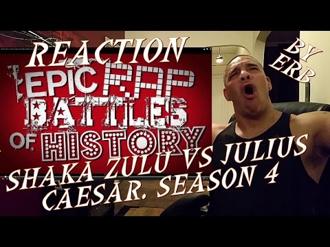 Shaka Zulu vs Julius Caesar. Epic Rap Battles REACTION