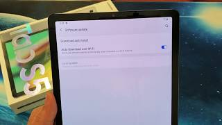 Galaxy Tab S5e: How to do a Software Update