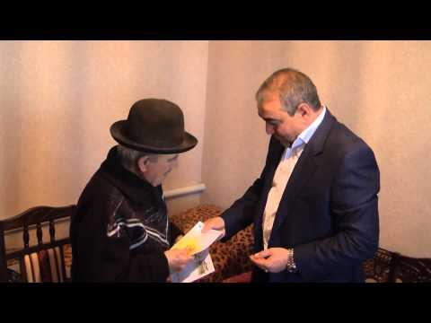 Поздравление долгожителя а Хабез Рамазана Загаштокова с 90 летним юбилеем