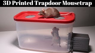 3D Printed Trapdoor Mousetrap In Action - Invented By A Youtube Viewer