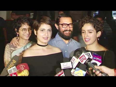 DANGAL Movie Review By Aamir Khan's CUTE Daughters/Actress In Film - Sanya Malhotra & Fatima Shaikh thumbnail