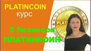 Platincoin курс  Откуда деньги  5 бизнесов ПЛАТИНКОИН