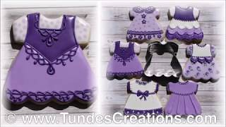 How to decorate baby girl dress cookie 6/6