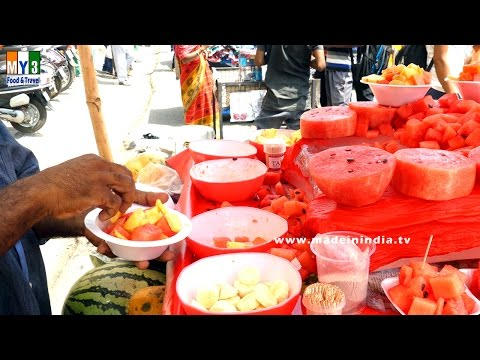 FRUIT SALAD  | SUMMER SPECIAL STREET FOODS IN INDIA | SUMMER HEALTHY FOODS