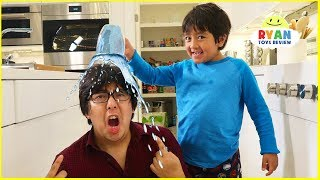 Ryan Pretend Play with Polymer Science Experiments for Kids!