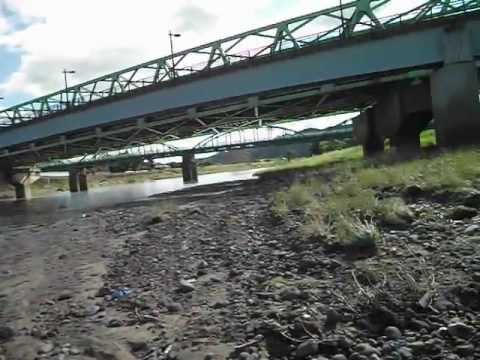 85.03 microSv/h, Fukushima city, mud into a river, June 2012, What's going in rivers ?
