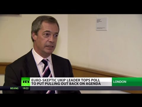 UKIP Hooray! Euro-skeptic Farage tops poll ahead of elections