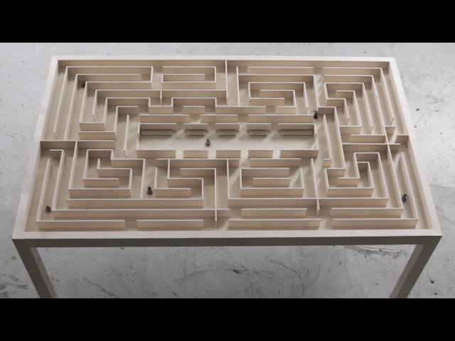 Labyrinth Table by Benjamin Nordsmark