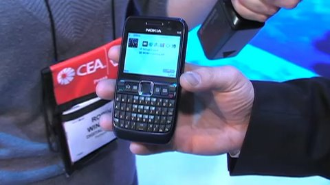 CES 2009: Nokia Cell Phones and Bluetooth Headset