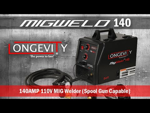 LONGEVITY MIGWELD 140 AMP 110v FLUX Core / Gas MIG WELDER with optional Aluminum SPOOL GUN $329.99
