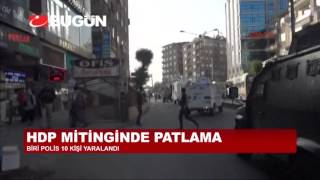 HDP'NİN DİYARBAKIR MİTİNGİNDE PATLAMA, ÇOK SAYIDA YARALI VAR