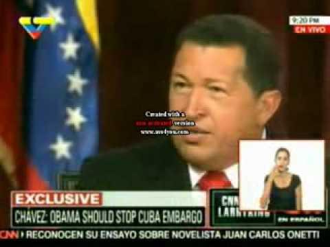 Larry King entrevista a Hugo Rafael Chávez Frías presidente de Venezuela 4/4