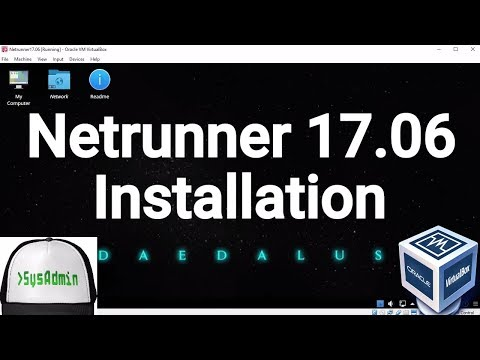 Netrunner Linux 17.06 Installation on Oracle VirtualBox [2017]