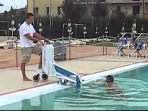 portable lift for disabled pool access video youtube