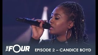 Download Lagu Candice Boyd: The Girl With a RIDICULOUS Voice WOWS The Judges! | S1E2 | The Four Gratis STAFABAND
