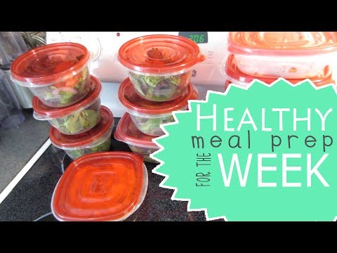Healthy Meal Prep For The Week | Roasted Chicken/Fish & Vegetables | Salad with Tuna