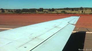 Qantas Boeing 717 Steep Climb out of Ayers Rock (GREAT ENGINE SOUND!) [1080pHD]